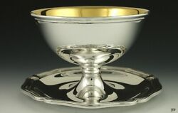 Antique 1920s Bruckmann Sohne Sterling Silver Caviar German Footed Dish/bowl