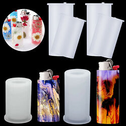 4PCS Resin DIY Epoxy Silicone Resin Mold Lighter Protective Cover Casting Mould
