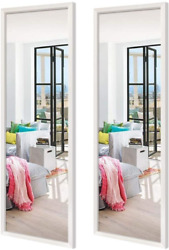 Schliersee 14x48 inch Full Length Mirrors Wall Mounted Rectangular White Framed