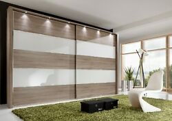 Luxury German Sliding Wardrobe Bedroom White Grey Mirrored Glass Fitted Free