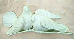 Vintage 1977 Burwood Products Company White Doves Lovebirds Wall Hanging Decor