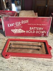 New Kant-ker-rode Fd12 Battery Hold Down Bracket And Bolts 1960-61 Ford/mercury