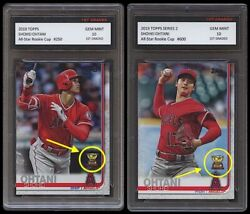 Shohei Ohtani Topps Series 1 + 2 All-star Rookie Gold Cup 1st Graded 10 Card Lot