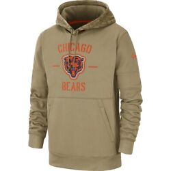 Chicago Bears 2019 Nike Nfl Salute To Service Therma-fit Hoodie Men's Xl