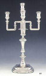Antique C1870 European Silver 5 Light Convertible Candelabra/candlestick 17.5