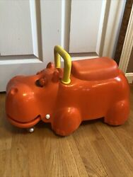 Vintage Play School Hungry Hippo Ride On Toy Scooter Walker 1960's Rare