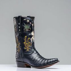 Stallion Boots Inlayed Western Boots