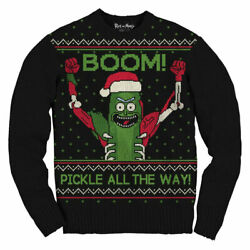 Rick And Morty Boom Pickle Rick Adult Ugly Christmas Sweater