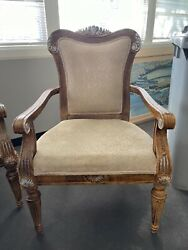 2 Vintage Living Room/office Accent Chairs