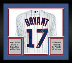 Framed Kris Bryant Chicago Cubs Autographed White Authentic Jersey