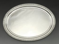 Antique 1850s American Philadelphia Coin Silver Taylor And Lawrie Tray/platter