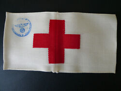 Ww2 German Wehrmacht Army Combat Medic Unit Stamped Red Cross Armband Original