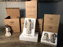 Willow Tree Figurines Open Box New. Angel Of Spirt, Two Together, Angel Of Grace