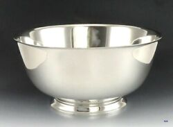 Huge Solid Sterling Silver And Co Centerpiece Serving Bowl 10 1/4