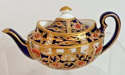 Rare Royal Crown Derby 6299 Derby Witches Pattern Miniature Tea Pot - Date 1908