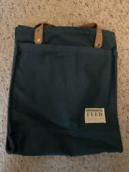 FEED PROJECTS Causebox Canvas Market Tote Bag Blue Spring 2021 $49.99
