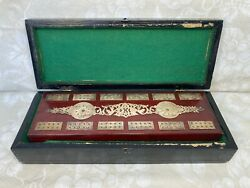 Ant Cribbage Board With Silver Colored Metal Detailing 6 Pegs Patent Date 1892