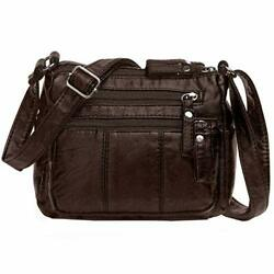 Crossbody Bags For Women Pocketbooks Soft PU Leather Zip Purses and Handbags $23.68