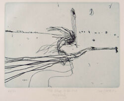 John Olsen Edge Of The Void - Signed Original Etching, Lake Eyre, Edition Of 50