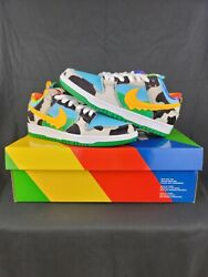 Nike Sb Dunk Low Ben And Jerryand039s Chunky Dunky Black/gold/lagoon Menand039s Size 6.5 Us