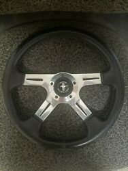65 66 Ford Mustang 14 Black Steering Wheel With Billet Adapter And Horn Button