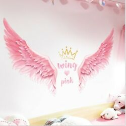 Removable Wall Decal angel wings Girls Bedroom Sticker Home Living Room Decor