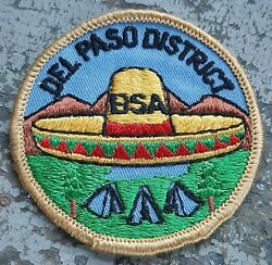 Vintage Bsa Del Paso District Boy Scouts Of America 3 Round Patch