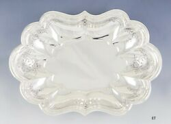 Antique 1930s Reed Barton Sterling Silver Hand Engraved Bowl/dish 12.5 X 8.75