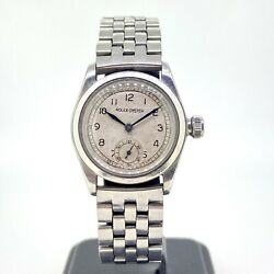 Unisex Vintage Rolex Oyster Royal Steel Manual Wind 1940's Silver Dial