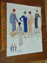 1925 French Dresses Magazine Ad- Art Deco Style Women- Back Lux Soap