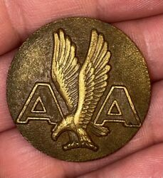 American Airlines Rare 1930's Left Eagle Uniform Badge/pin Rare Larger