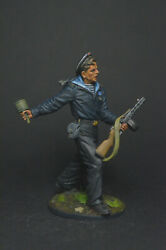 Tin Soldier Red Navy Man With A Ppsh Submachine Gun And An Rpg-40 Grenade 54 Mm