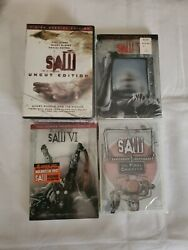 Saw I Ii Iii Iv V Vi Vii Complete Horror Series Movies 1-7 Dvds New Sealed