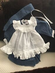 Pleasant Company American Girl Samantha Play Dress and Pinafore Outfit 1990 $58.00