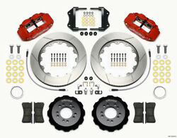 Wilwood Narrow Superlite 6r Front Hat Kit 14.00in Red 2013-up For Ford Focus St