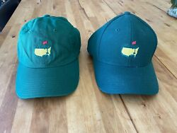 Pair Of New Masters Golf Hats. Adjustable And 7 1/8 Fitted.