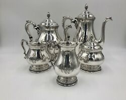 Prelude By International Sterling Silver Coffee And Tea Set Five 5 Pieces C366