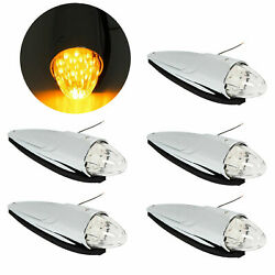 5 17 Led Amber Torpedo Cab Marker Clearance Roof Running Top Light For Kenworth