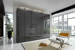 Quality Luxury German Wardrobe Bedroom Rustic White Black Grey Glass Fitted Free