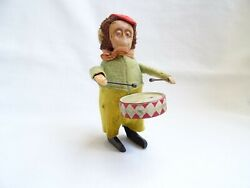 Antique Schuco Drumming Monkey Wind-up Toy With Key