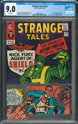 Strange Tales 135 Cgc 9.0 White Pages 1st Nick Fury Agent Of Shield Key