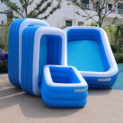 Large Full-sized Inflatable Blow Up Swimming Pools Backyard Family Lounge Pool