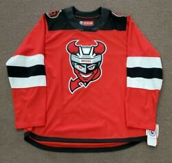 Binghamton Devils Ahl Ccm Red Road Jersey Replica Adult Medium - New With Tags