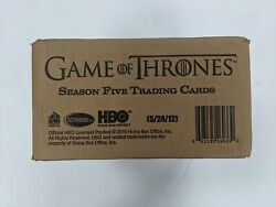 2016 Rittenhouse Game Of Thrones Season 5 Trading Cards Factory Sealed Case