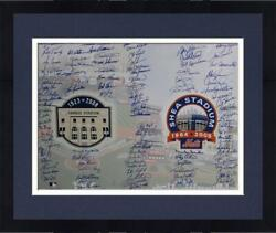 Framed New York Mets And New York Yankees Multi Signed Farewell 16 X 20 Photo