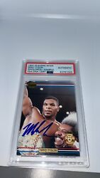 1991 Mike Tyson Ringlords Sample Promo Auto Signed Boxing Card Psa Auto