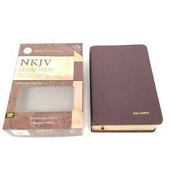 Nkjv Study Bible Large Print Signature Series Nelson Brown Bonded Leather Index