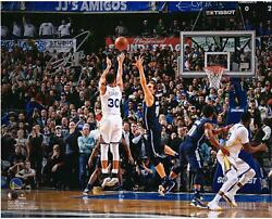 Stephen Curry Gs Warriors Signed 16 X 20 Game Winning Shot Vs Dallas Photo