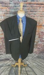 Recent Canali Italy 48l Grey Plaid 2 Button Super 120 Wool 2 Piece Suit 38x34