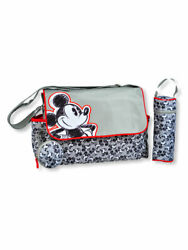 Disney Mickey Mouse Sketched Messenger Diaper Bag